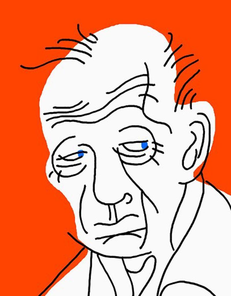 Sad old man : Stock Photo