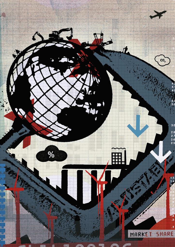 Vice holding globe : Stock Photo