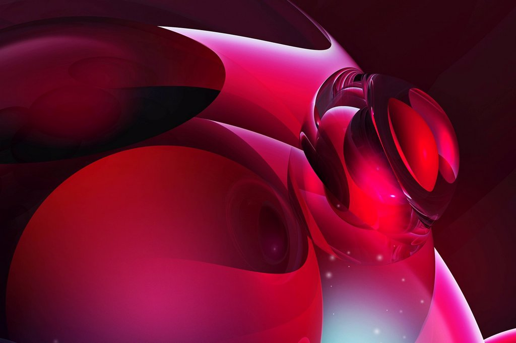 Abstract pink smooth shiny shapes  : Stock Photo
