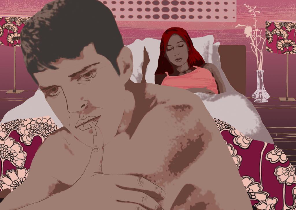 Couple having sexual problems : Stock Photo