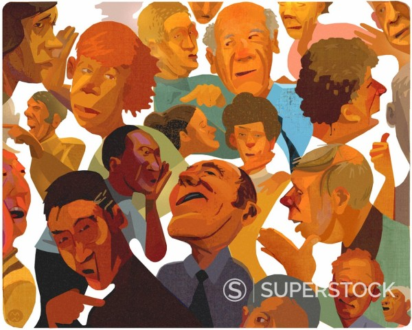 Montage of various people's faces : Stock Photo