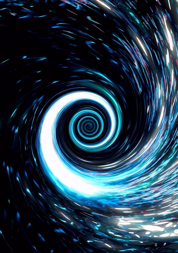 Swirling blue vortex : Stock Photo
