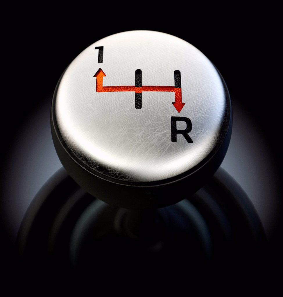 Gearshift showing only forward and reverse options : Stock Photo
