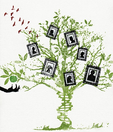 Stock Photo: 1849-552 Pictures on family tree