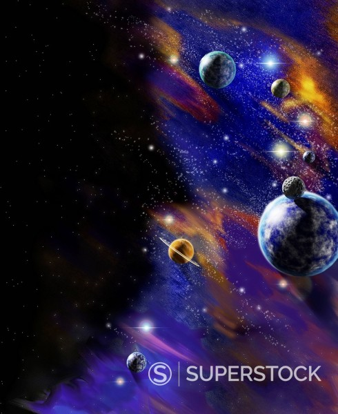 Planets in outer space : Stock Photo