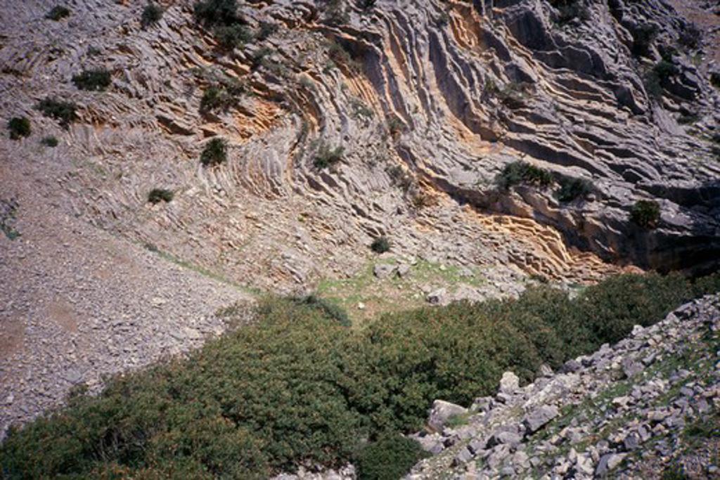 Stock Photo: 1850-1126 Morocco, Atlas Mountains, Er Rif, Near Chechaouen. Rock Formations