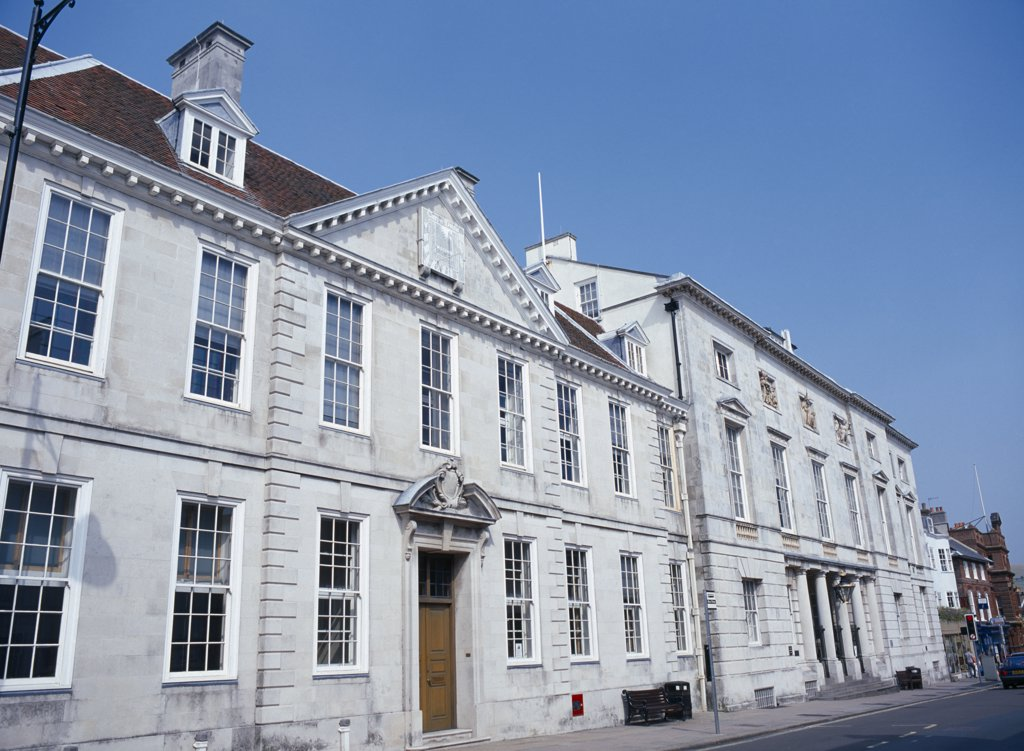 England, East Sussex, Lewes, Lewes Crown Court Exterior : Stock Photo
