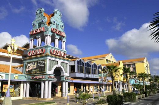 Stock Photo: 1850-13444 West Indies, Dutch Antilles, Aruba, Oranjestad. Crystal Casino On L G Smith Boulevard