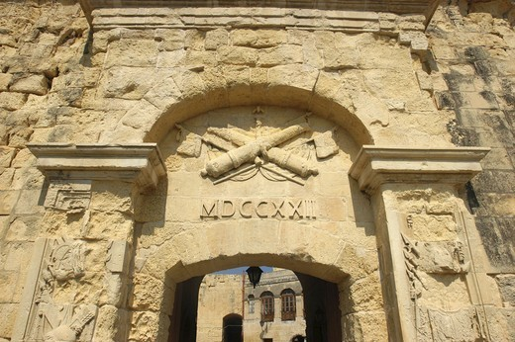 Malta, Vittoriosa, City Gate : Stock Photo