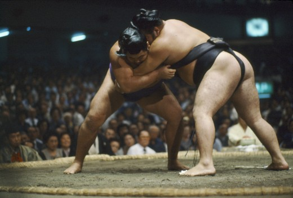 Stock Photo: 1850-13944 Japan, Honshu, Tokyo, Grand Sumo Wrestling Championship