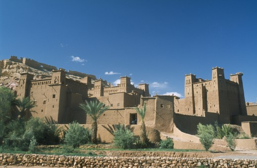 Morocco, Ait Benhaddou, Kasbah Famous For Appearing In Films Such As Jesus Of Nazareth And Lawrence Of Arabia. : Stock Photo