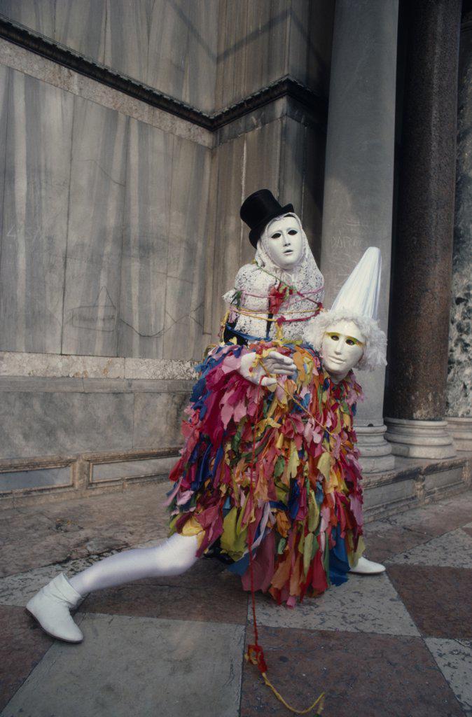 Stock Photo: 1850-18752 Italy, Veneto, Venice, Carnival Masqueraders.