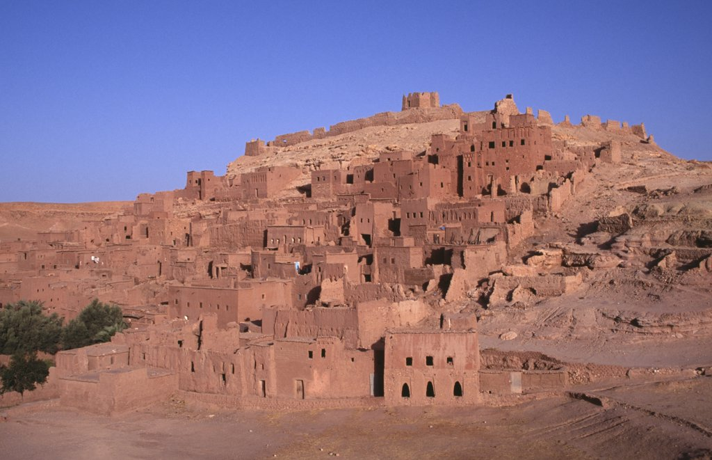 Morocco, Ait Benhaddou, Kasbah And Hill Town Used In Films Such As Jesus Of Nazareth And Lawrence Of Arabia. : Stock Photo