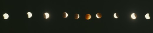 Stock Photo: 1850-2043 Space, Moon, Eclipse, Full Eclipse Of The Moon August 11 1999