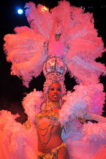 Stock Photo: 1850-21983 Cuba, Havana, 'Dancer Performing At La Tropicana Nightclub, '