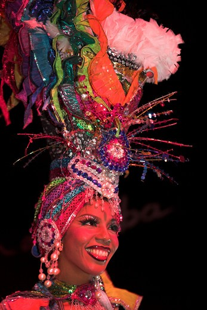 Cuba, Havana, 'Dancer Performing At La Tropicana Nightclub, ' : Stock Photo