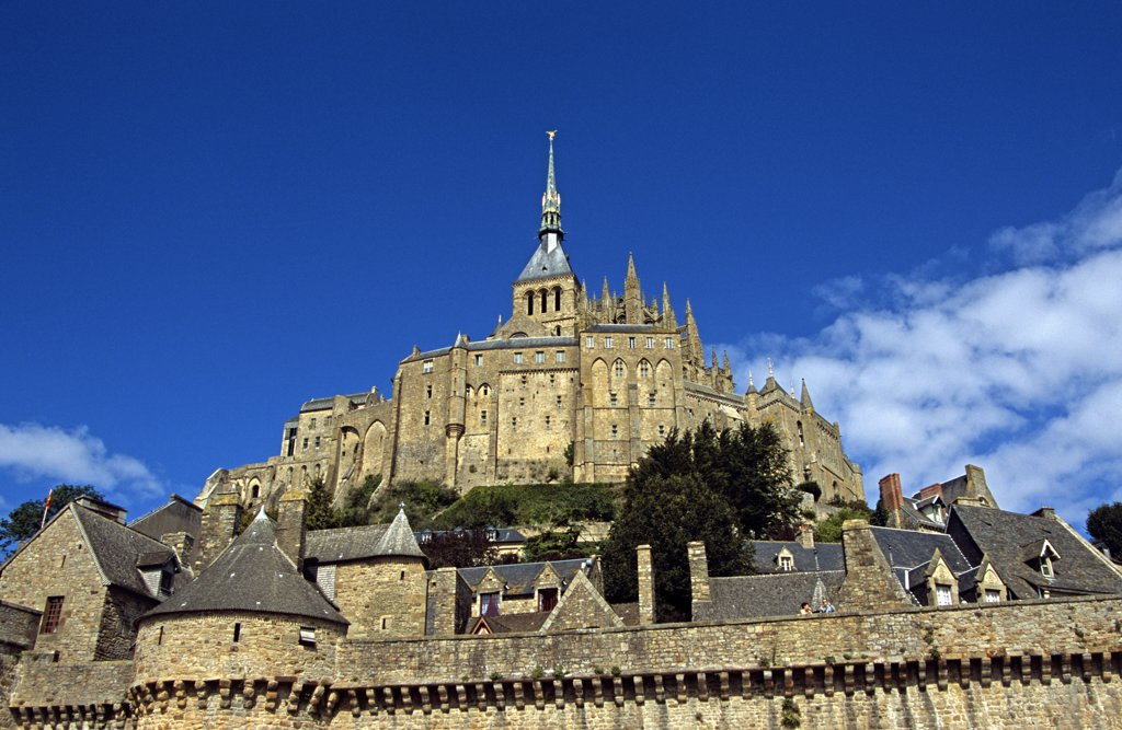 France, Manche, Normandy, Le Mont-St-Michel. : Stock Photo