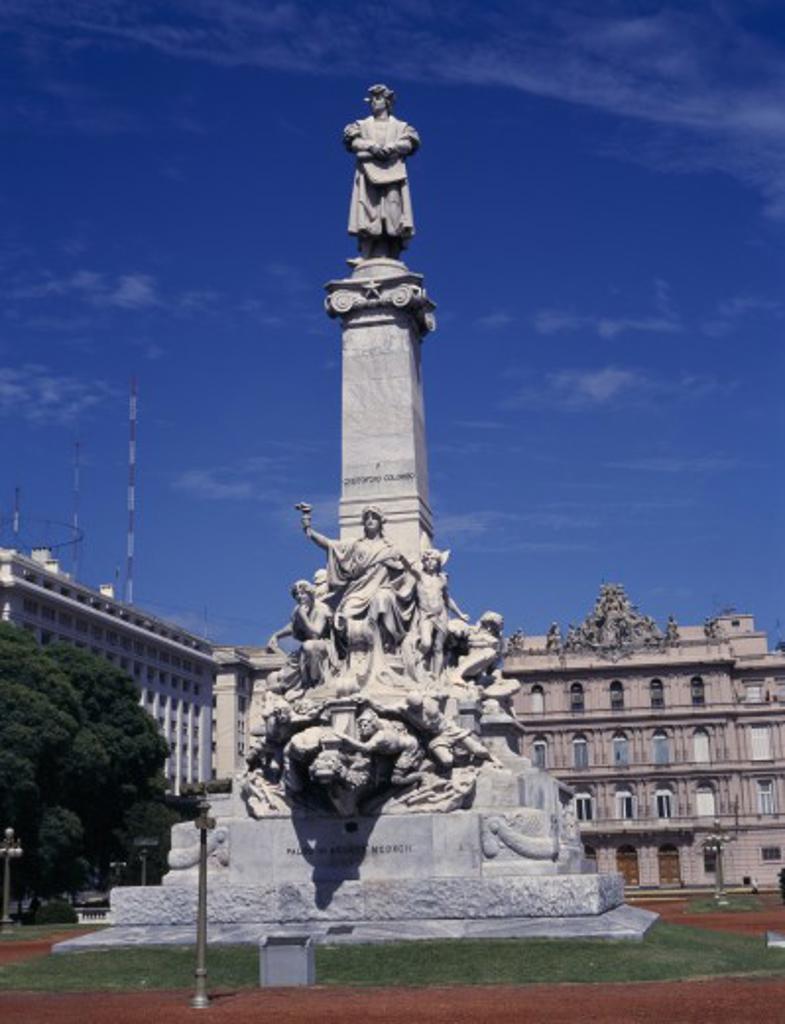 Argentina, Buenos Aires, Columbus Monument : Stock Photo