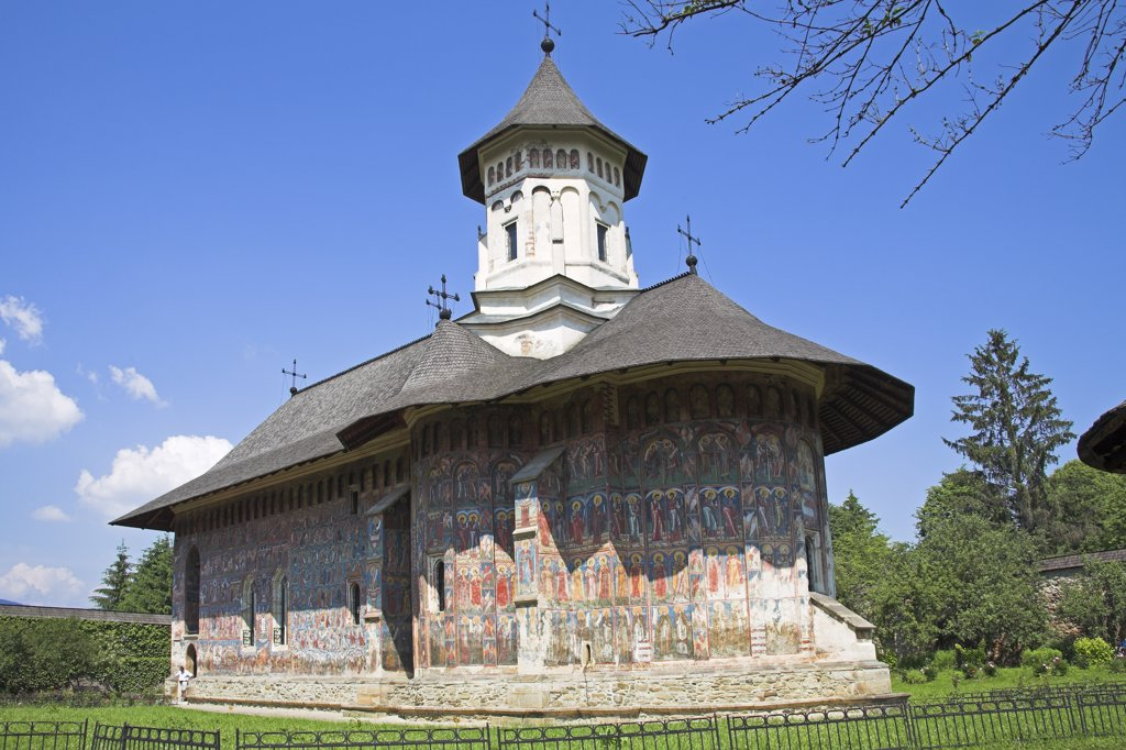 Stock Photo: 1850-24201 Romania, Moldavia, Bucovina, 'Church Of The Annunciation, Moldovita Monastery, Moldovita'