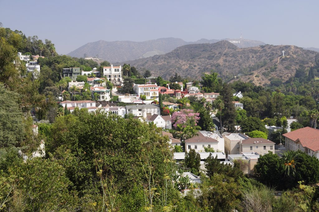 Stock Photo: 1850-27538 Usa, California, Los Angeles, Hollywood Hills View