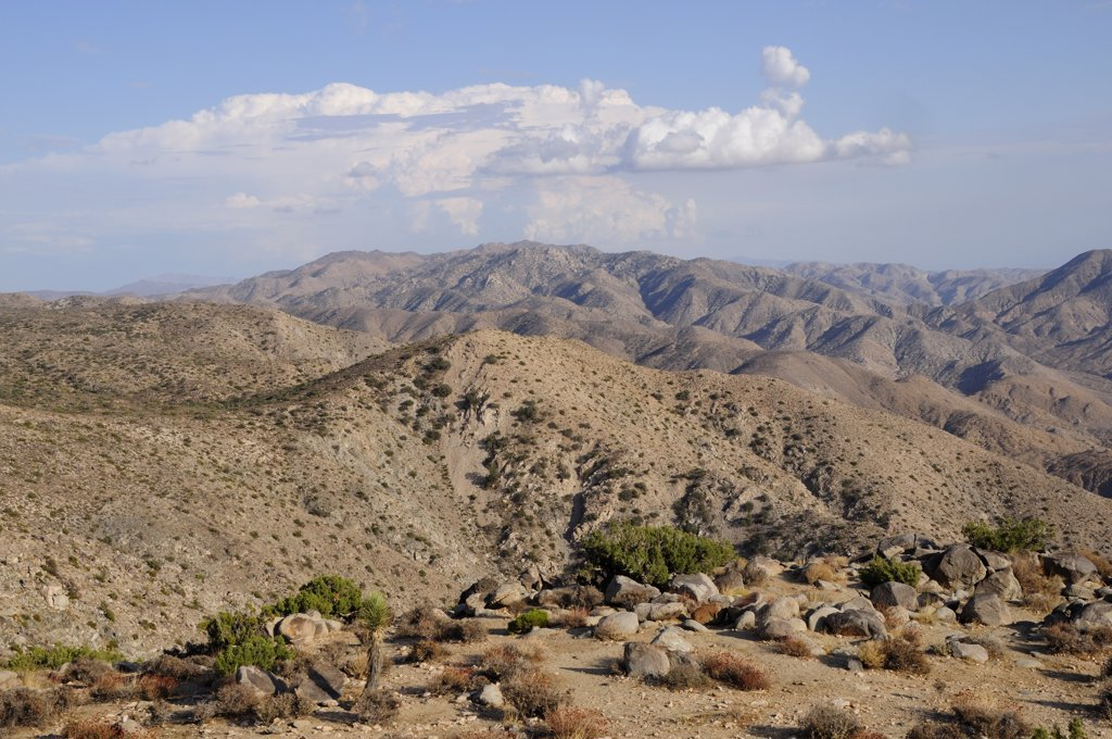 Usa, California, Joshua Tree National Park, 'Mountain Views From Keys View, Joshua Tree National Park' : Stock Photo