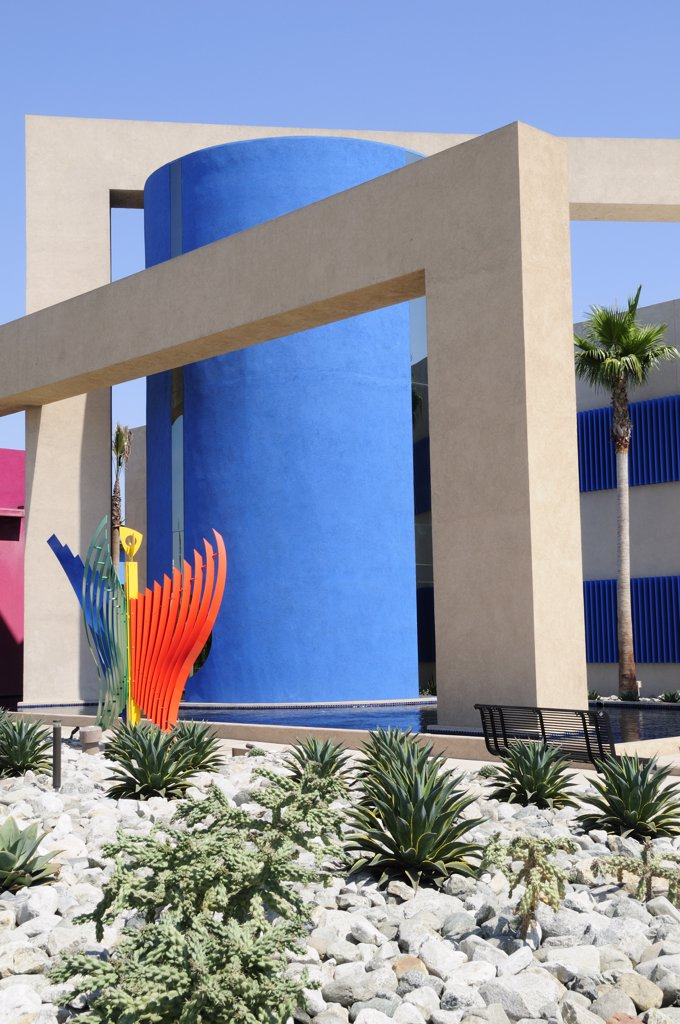 Stock Photo: 1850-27701 Usa, California, Los Angeles, 'Colourful Architecture At Museum Of Latin American Art, Long Beach'