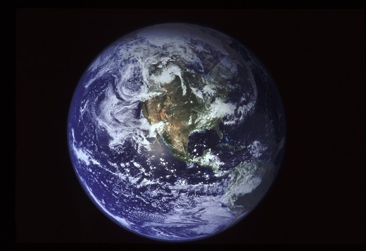 Stock Photo: 1850-27963 Science, Space, Nasa, Earth Seen From Space.