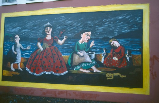 Stock Photo: 1850-2937 Ireland, North , Belfast, Mural On The Falls Road.