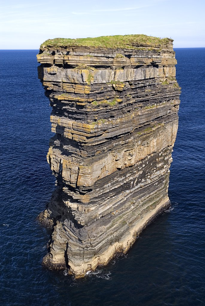 Stock Photo: 1850-29680 Ireland, County Mayo, Downpatrick Head, Dœn Briste Broken Fort  Sea Stack On The North Mayo Coast