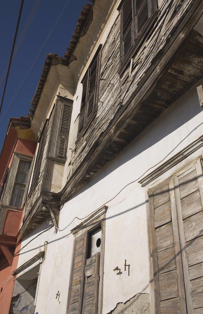 Turkey Aydin Province KUSAdasi, Exterior facades of Ottoman era : Stock Photo