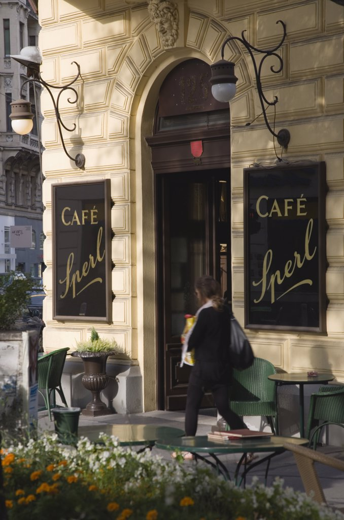 Austria Vienna, Mariahilf District  Cafe Sperl  the preferred cafe of Adolf Hitler : Stock Photo