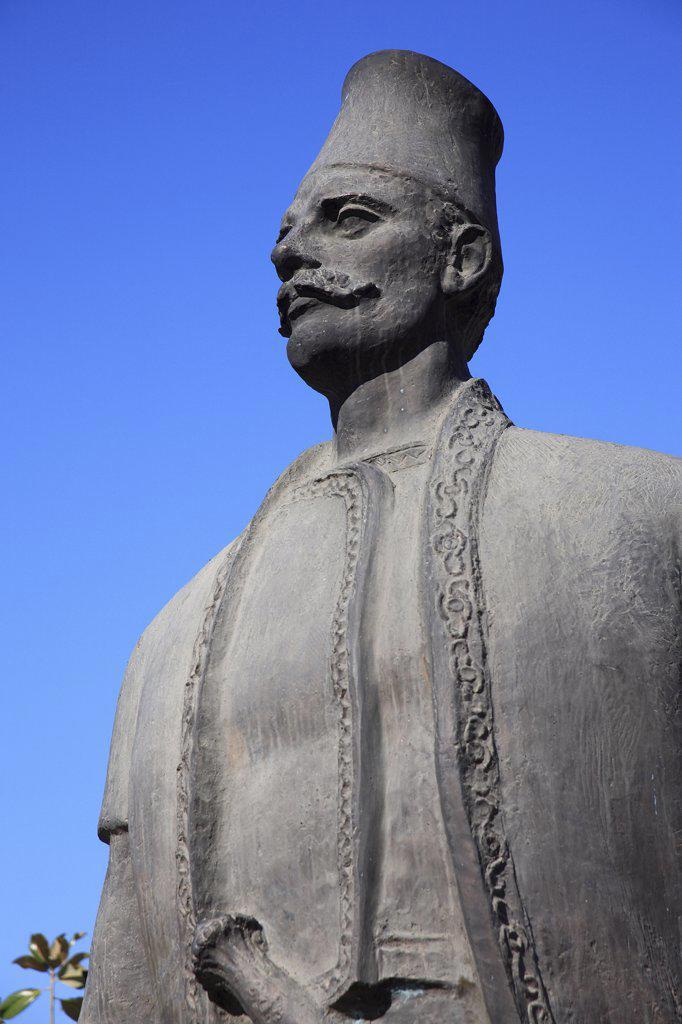 Stock Photo: 1850-31298 Albania Tirana, Statue of male figure
