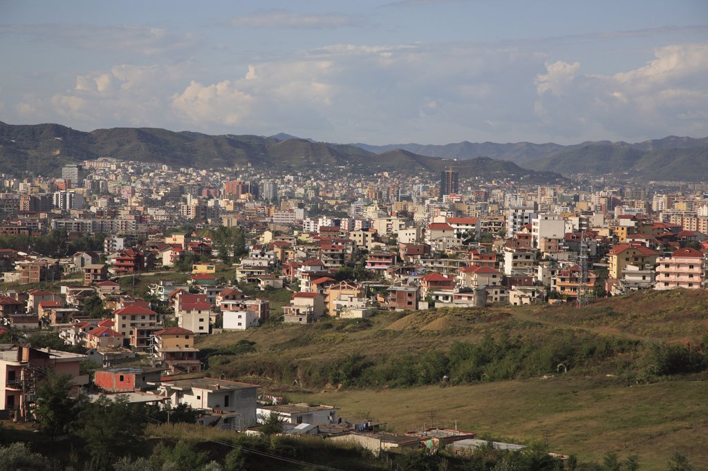 Stock Photo: 1850-31759 Albania, Tirane, Tirana, Panoramic view over the city.