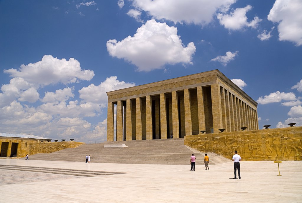 Turkey, Cappadocia, Ankara, Anitkabir Mausoleum of Kemal Ataturk founder and first president of modern day Turkey in 1923. : Stock Photo