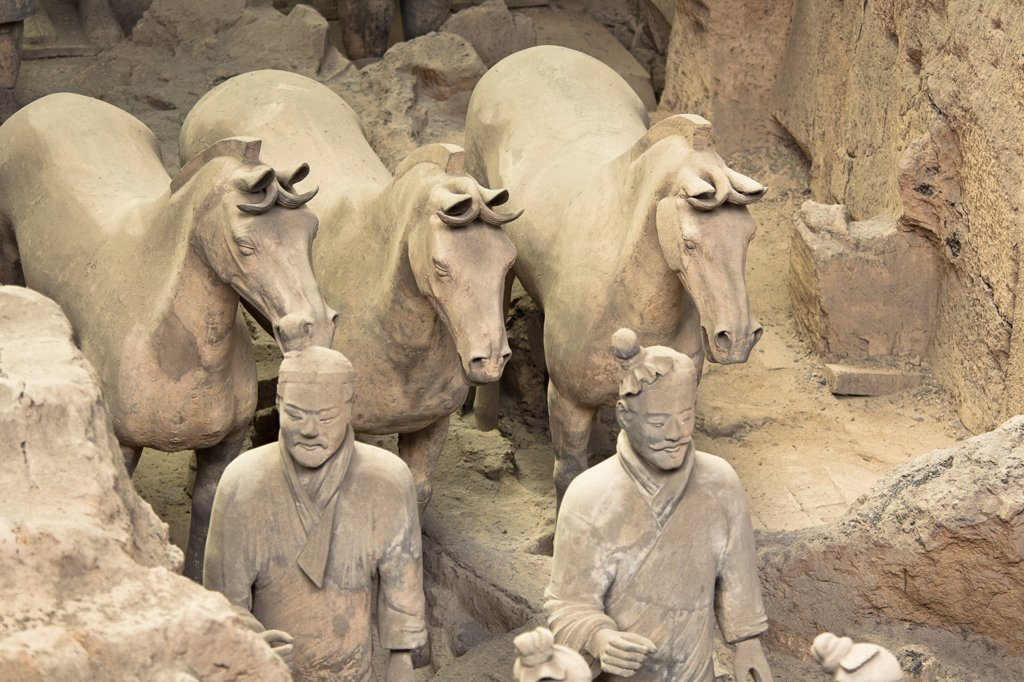 Stock Photo: 1850-32937 China, Shaanxi, Xian, Terracotta army.