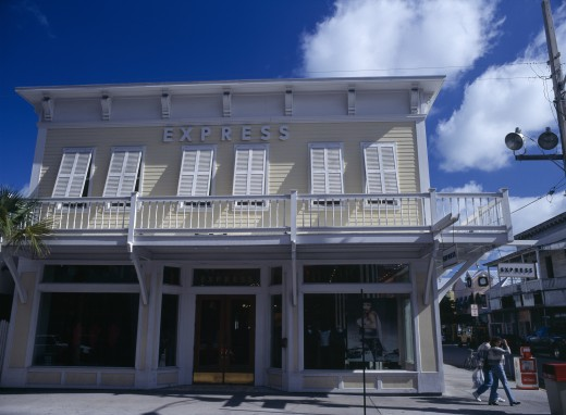 Usa, Florida, Key West, Duval Street Express Building : Stock Photo