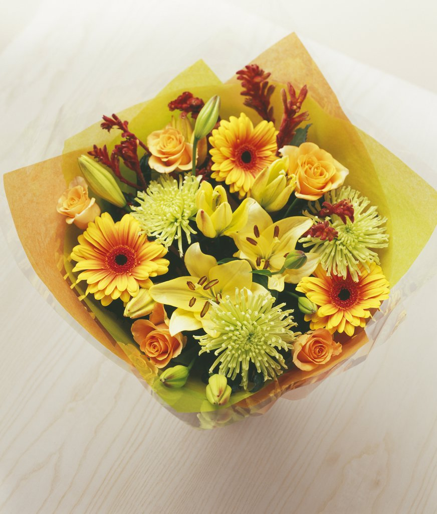 Mixed flowers in a wrap : Stock Photo