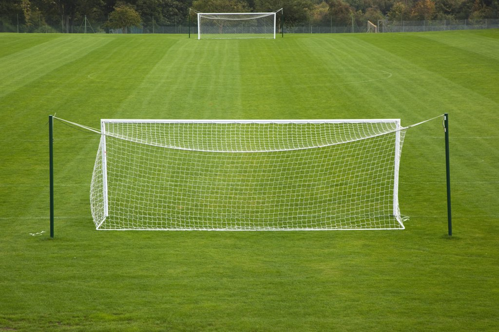Stock Photo: 1850-44146 Sport, Football, Soccer, Empty practice pitches.