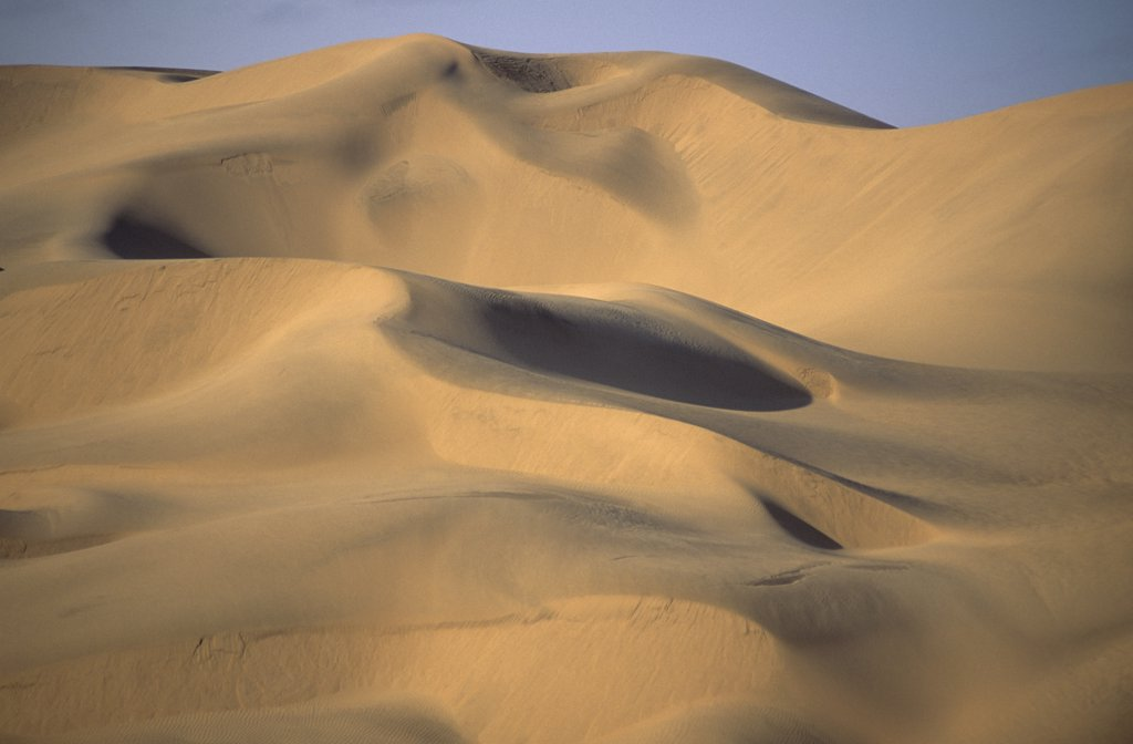 Namibia, Namib , Naukluft Desert, Sand dunes in the De Beers Diamond mining area. : Stock Photo
