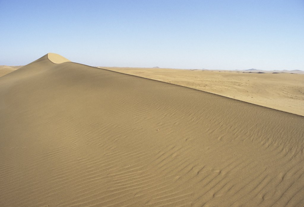 Namibia, Namib , Naukluft Desert, Sand dunes in the De Beers Diamond mining area. : Stock Photo