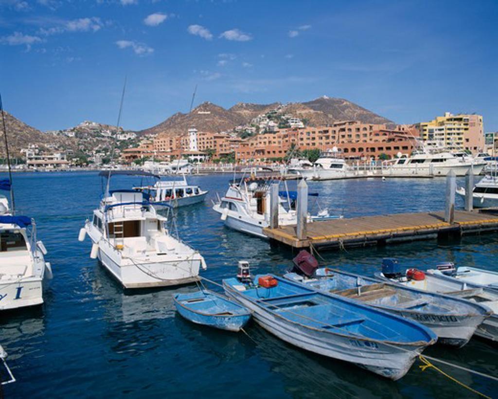 Mexico, Baja California, Cabo San Lucas, The Marina General View : Stock Photo