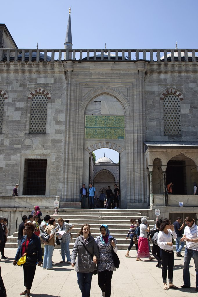 Sultanahmet Camii Blue Mosque entrance.Turkey Istanbul : Stock Photo