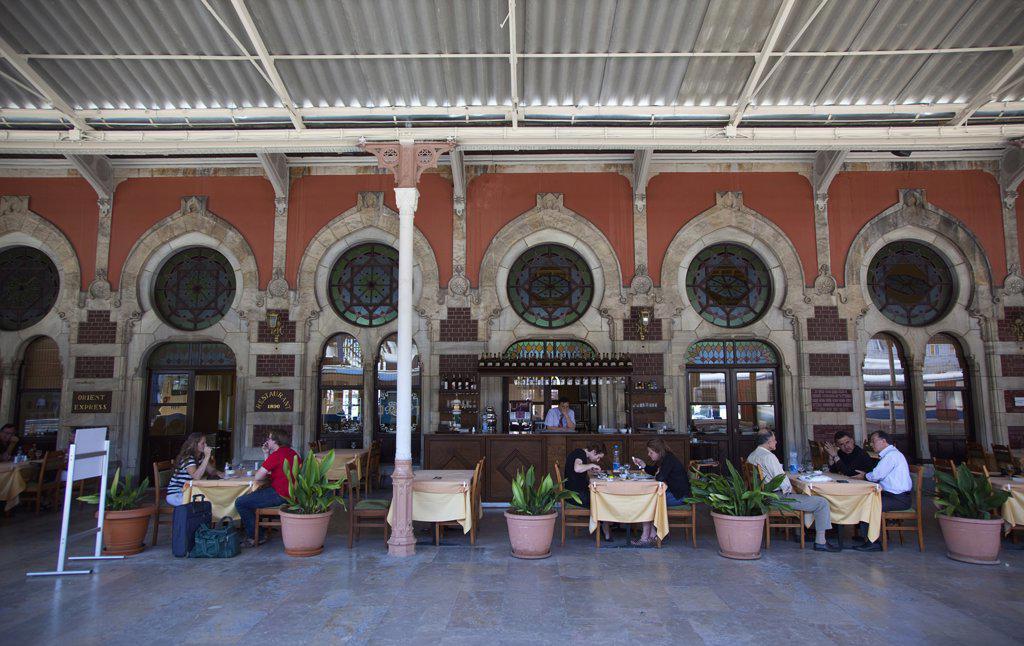 Sirkeci Gar railway station interior Orient Express restaurant.Turkey Istanbul : Stock Photo