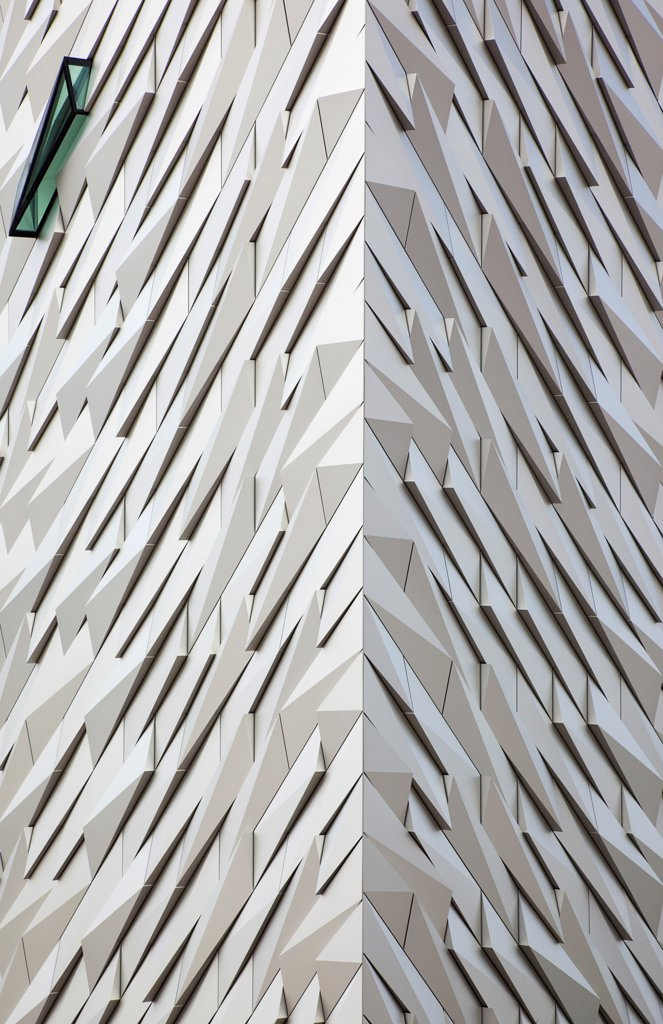 Stock Photo: 1850-46125 Ireland, North, Belfast, Titanic Quarter, Visitor centre designed by Civic Arts & Eric R Kuhne.