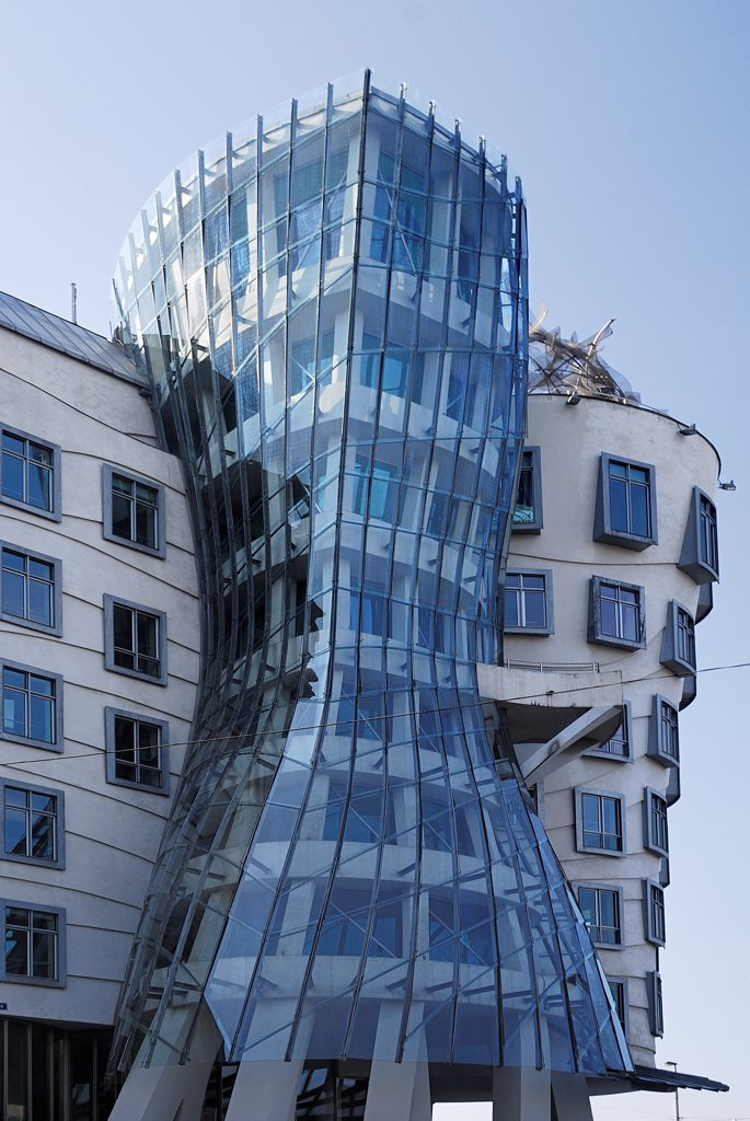 Czech Republic, Bohemia, Prague, The Dancing Building built1996. : Stock Photo