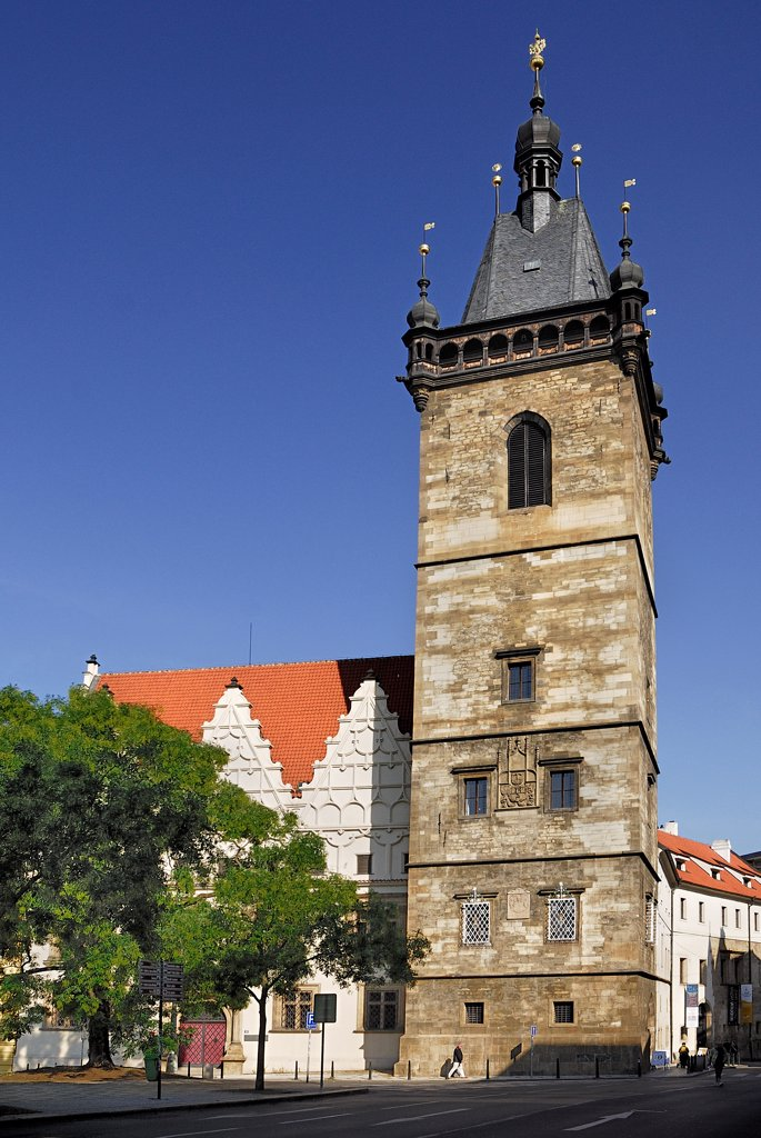 Stock Photo: 1850-46222 Czech Republic, Bohemia, Prague, Charles Square, New Town Hall, Late 14th century.