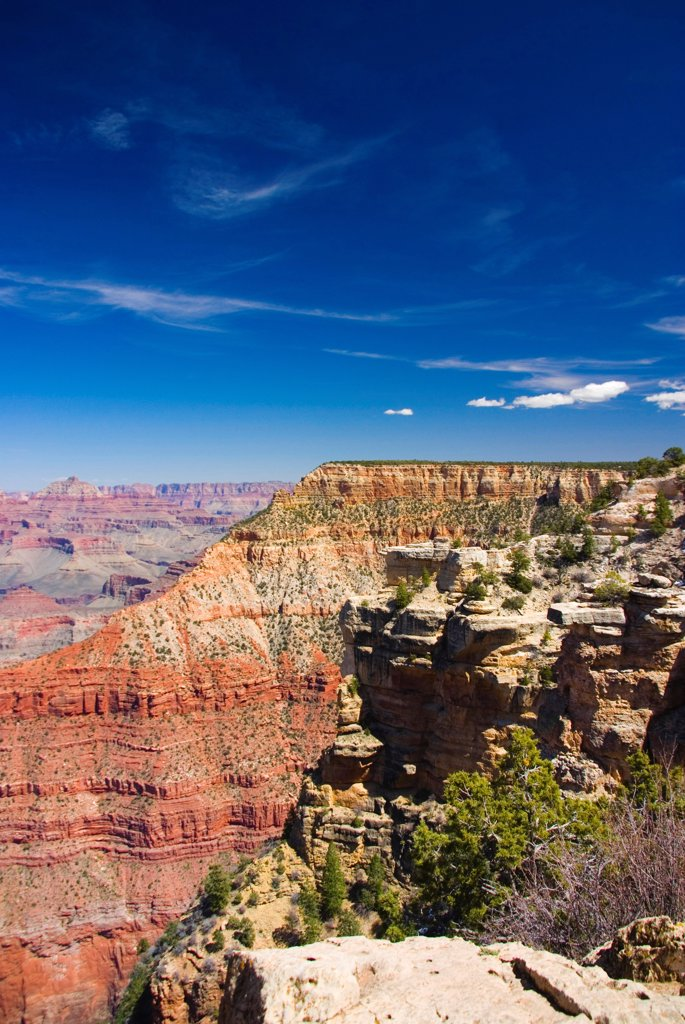 Stock Photo: 1850-46322 USA, Arizona, Grand Canyon. View across the Grand Canyon.