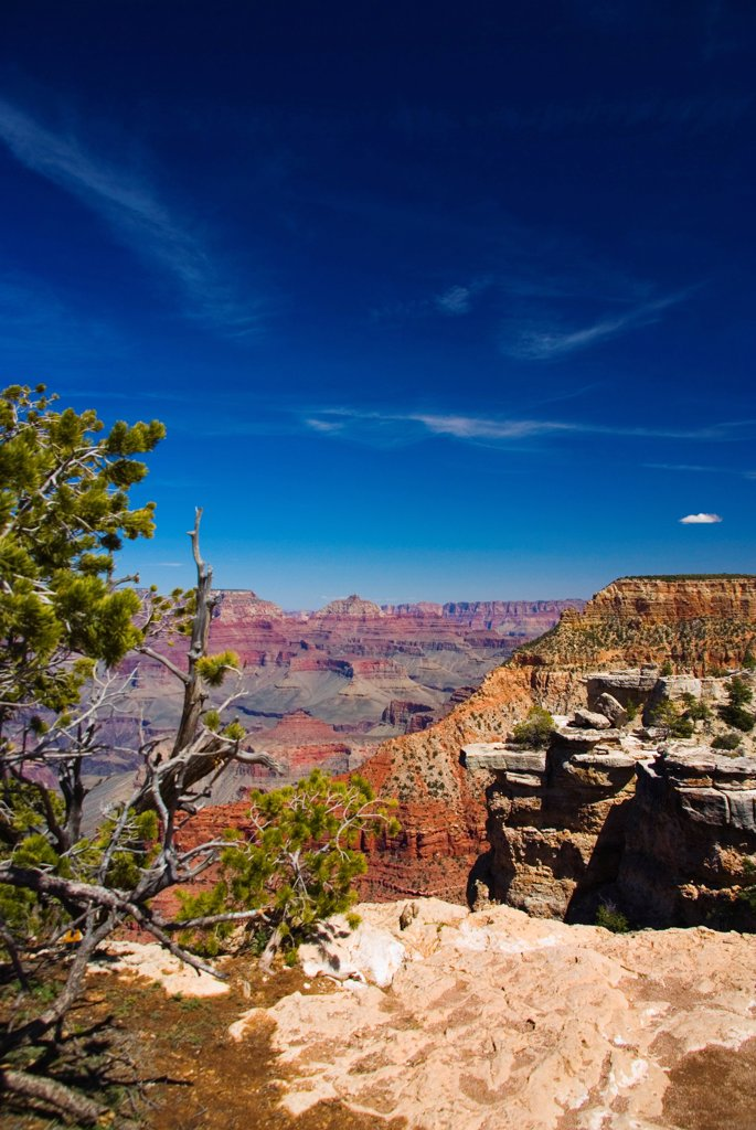 Stock Photo: 1850-46324 USA, Arizona, Grand Canyon. View across the Grand Canyon.