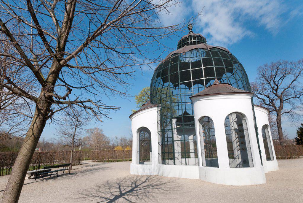 Stock Photo: 1850-46378 Austria, Vienna, The columbary Dovecote or pigeon loft at the Schloss Schonbrunn, built between 1750-1755.