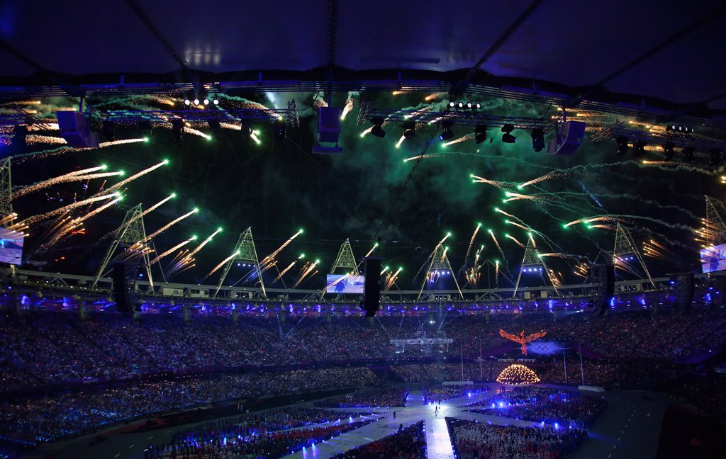 England, London, Stratford Olympic games closing ceremony. : Stock Photo